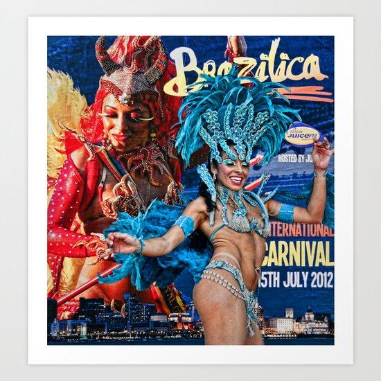 Carnival Dancer Art Print