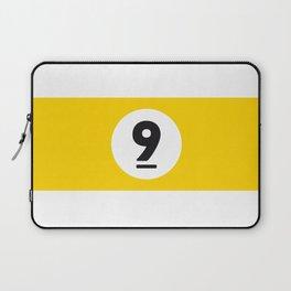 9 ball yellow Laptop Sleeve