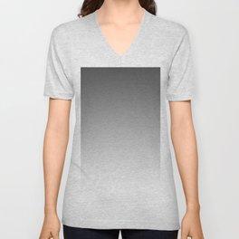 Gray Light Ombre Unisex V-Neck
