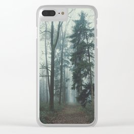 Misty Woods II #adventure #photography Clear iPhone Case