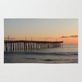 Virginia Beach Pier Sunrise Rug