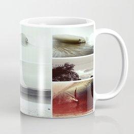 Mundaka Surf Art Collage by Uhaina Coffee Mug