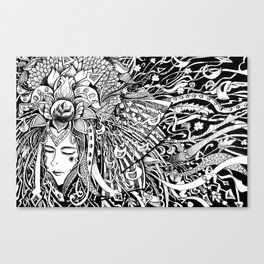 The Bride of the Watergod Canvas Print