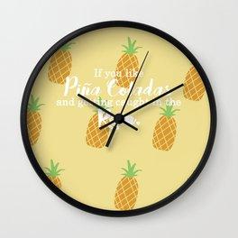 Piña Colada Song Wall Clock