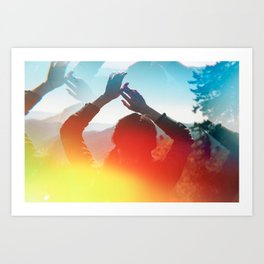 Sunshine Silhouette in the Smoky Mountains - Film Photograph Art Print