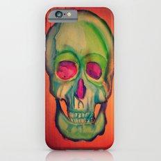 Watercolor skull/Green Slim Case iPhone 6s