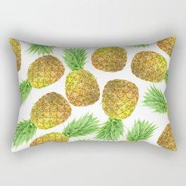 Pineapple watercolor pattern Rectangular Pillow