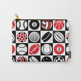 Sport Ball Checkerboard Carry-All Pouch