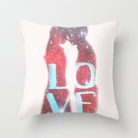 lovers Throw Pillows featuring Lovers by EclipseLio