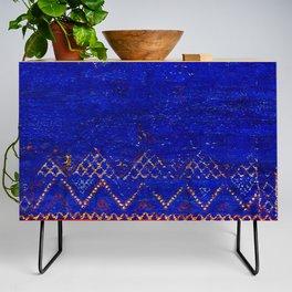 -A5- Royal Calm Blue Bohemian Moroccan Artwork. Credenza