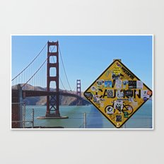 San Francisco- Golden Gate Stickers Canvas Print
