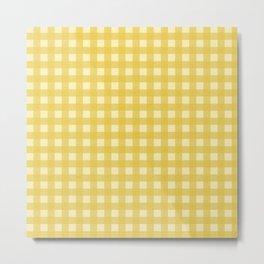 Mustard Yellow Buffalo Checks Metal Print