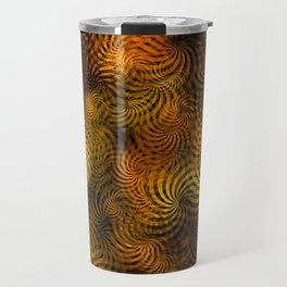 Copper Spiral Abstract Travel Mug