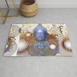 Transcendental meditation of Buddha at Home Rug