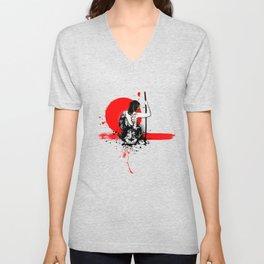Trash Polka - Female Samurai Unisex V-Neck