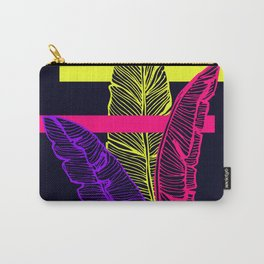 Neon Leaves #society6 #tropical Carry-All Pouch