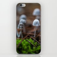 mushrooms iPhone & iPod Skins featuring Mushrooms by Michelle McConnell