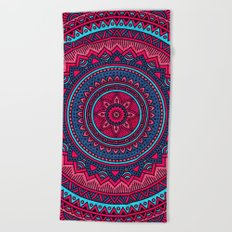 Hippie mandala 46 Beach Towel