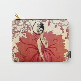 "Erté's Delightful Art Deco Magazine Cover ""Blossoms"" Carry-All Pouch"