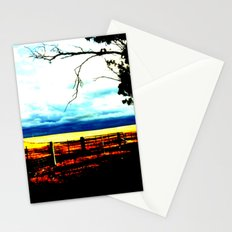 Storm clouds over wheat Fields Stationery Cards