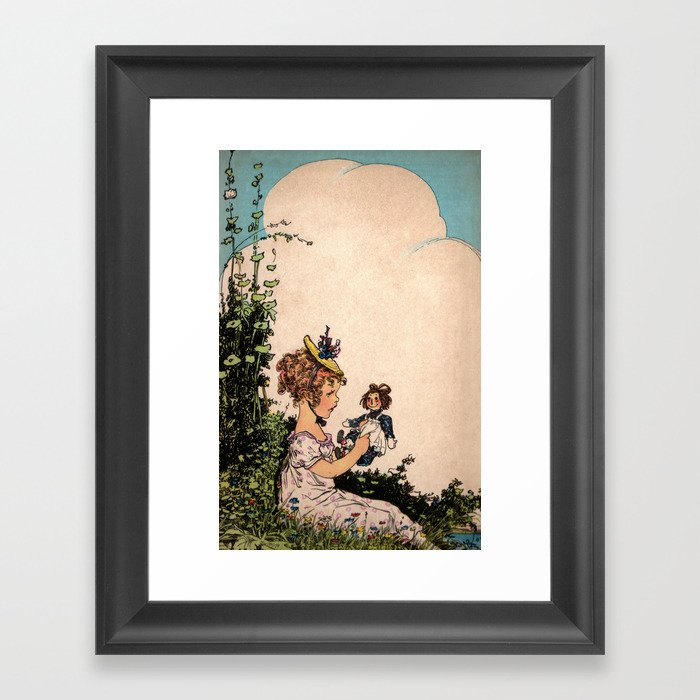Raggedy Ann Child S Book Nursery Wall Art Room Decor Baby Framed Print By Oakstreetart