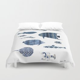 Shibori Sea Duvet Cover
