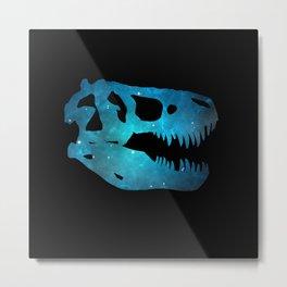 T-Rex Skull Metal Print