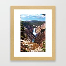 Yellowstone Falls Framed Art Print