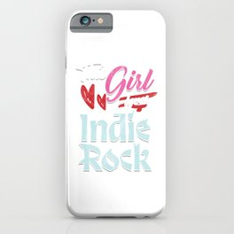 Music Lovers Pop Jazz Musicians Gift This Girl Loves Indie Rock iPhone Case
