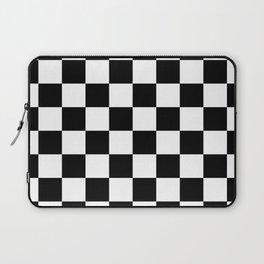 Checkered Pattern: Black & White Laptop Sleeve