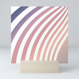 Soft pastel abstract lines Mini Art Print
