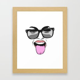 Cool girl Framed Art Print