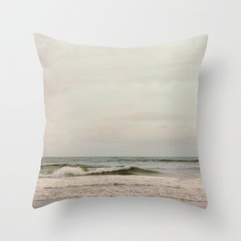 Cloudy Daydreaming by the Sea Throw Pillow