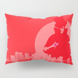 Jack The Ripper Red Background Pillow Sham