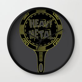 Heavy Metal Pan Cook Chef Gift Wall Clock
