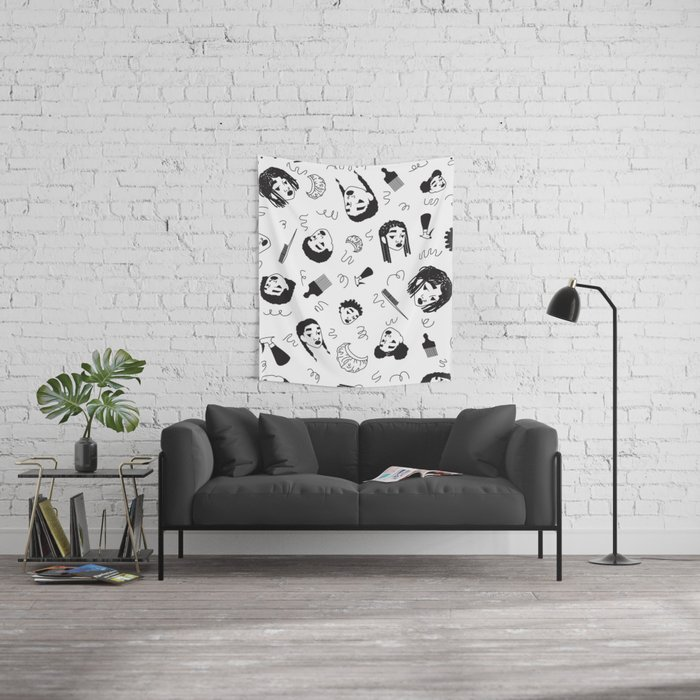 Curl Pattern Wall Tapestry
