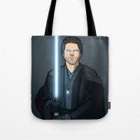 jedi Tote Bags featuring Jedi Cas by rdjpwns