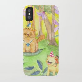 Magical Forest and the King Cat iPhone Case