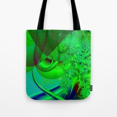 Abstract Green Algae Tote Bag