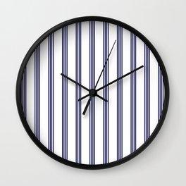 Blue- White- Stripe - Stripes - Marine - Maritime - Navy - Sea - Beach - Summer - Sailor Wall Clock