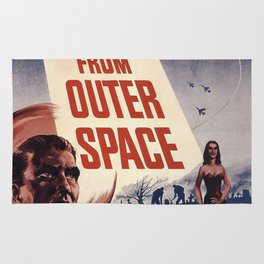 Vintage Classic Movie Posters, Plan 9 From Outer Space Rug
