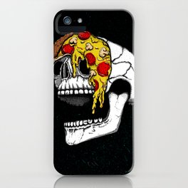 Pizza Face - colored iPhone Case