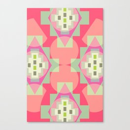 Light shapes in pink Canvas Print