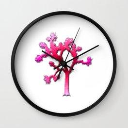 Joshua Tree Strawberry Wall Clock