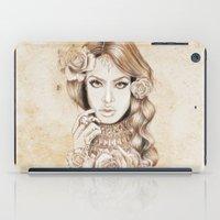 aaliyah iPad Cases featuring Aaliyah Vintage Art by DejaLiyah