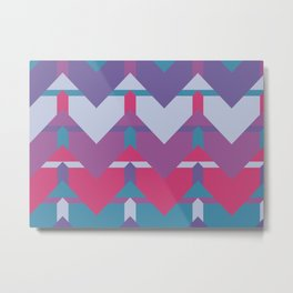 Cool Waves #society6 #violet #pattern Metal Print