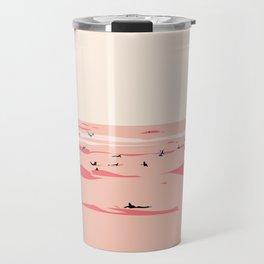 Sunset Tiny Surfers in Lima Illustrated Travel Mug