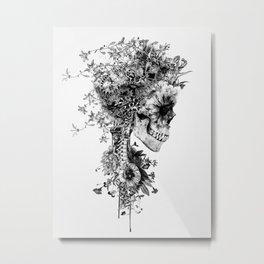 Skull BW Metal Print
