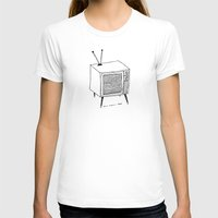 tv T-shirts featuring TV by Addison Karl