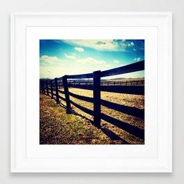 Country Fence Framed Art Print